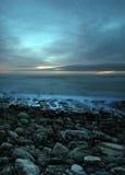 Puesta del sol brillante Imagen de archivo libre de regalías