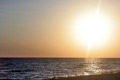 Puesta del sol brillante Fotografía de archivo libre de regalías