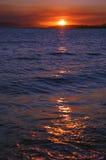 Puesta del sol caliente Fotos de archivo libres de regalías