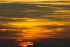 Puesta del sol caliente de Ted Imagen de archivo libre de regalías