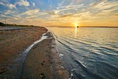 Puesta del sol Cape Cod Fotografía de archivo