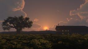 Puesta del sol casera Imagen de archivo libre de regalías