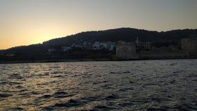 Puesta del sol del castillo imagen de archivo libre de regalías