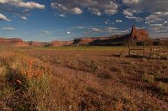 Puesta del sol cerca de Canyonlands Foto de archivo libre de regalías