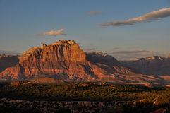 Puesta del sol cerca de Zion National Park, Utah, los E.E.U.U. Foto de archivo libre de regalías