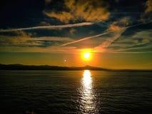 Puesta del sol Cerdeña imagen de archivo libre de regalías