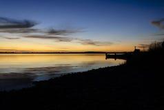 Puesta del sol Chiloe Fotos de archivo libres de regalías