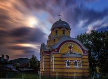 Puesta del sol Chipre (4k) de la iglesia Imagen de archivo libre de regalías