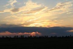 Puesta del sol, cielo Imagen de archivo