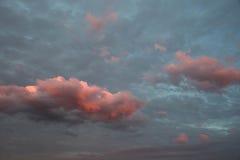 Puesta del sol Cloudscape fotografía de archivo