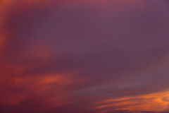 Puesta del sol Cloudscape Foto de archivo