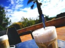 Puesta del sol Coffeé Fotografía de archivo