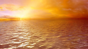 Puesta del sol colocada del mar del fondo, HD stock de ilustración