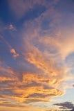 Puesta del sol colorida Foto de archivo libre de regalías