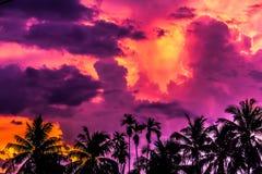 Puesta del sol colorida en Vietnam Imagen de archivo libre de regalías