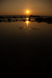 Puesta del sol con el gran rango dinámico imagen de archivo