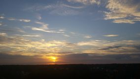 Puesta del sol con playas Fotografía de archivo libre de regalías
