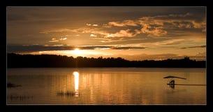 Puesta del sol con un skyflyer Fotos de archivo