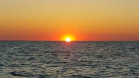 Puesta del sol costera Fotos de archivo