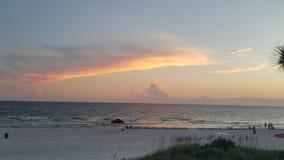 Puesta del sol costera Fotos de archivo libres de regalías