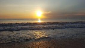 Puesta del sol costosa Fotos de archivo libres de regalías