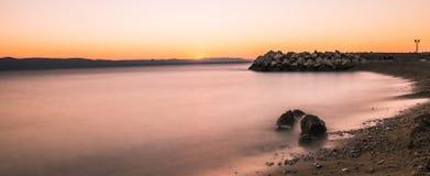 Puesta del sol croata Imagen de archivo libre de regalías