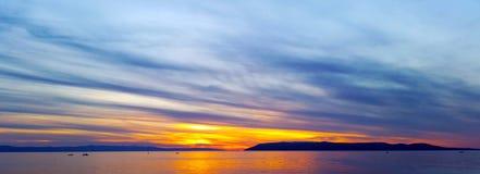 Puesta del sol croata - Makarska Foto de archivo