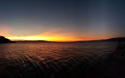 Puesta del sol croata del verano fotografía de archivo libre de regalías