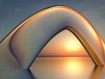 Puesta del sol Crystal Arch del mar Imágenes de archivo libres de regalías