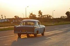 Puesta del sol Cuba Foto de archivo