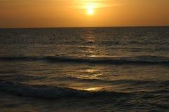 Puesta del sol cubana Imagen de archivo libre de regalías