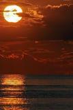 Puesta del sol, curva magnífica, el lago Hurón, Ontario, Canadá fotografía de archivo libre de regalías