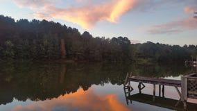 Puesta del sol de Alabama Foto de archivo libre de regalías