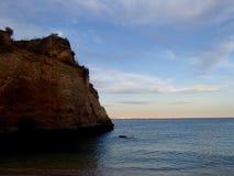 Puesta del sol de Algarve Imágenes de archivo libres de regalías