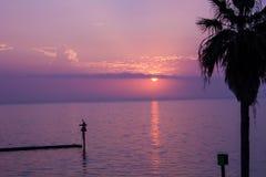 Puesta del sol de Aransas del puerto Foto de archivo