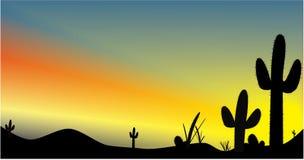 Puesta del sol de Arizona Fotografía de archivo