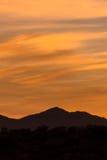 Puesta del sol de Arizona Fotografía de archivo libre de regalías