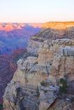 Puesta del sol de Arizona de la barranca magnífica imagenes de archivo