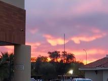 Puesta del sol de Arizona fotos de archivo libres de regalías
