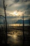 Puesta del sol de Bako Fotografía de archivo libre de regalías