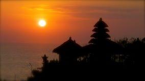 Puesta del sol de Bali Fotografía de archivo