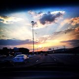 Puesta del sol de Baltimore Imagen de archivo libre de regalías
