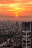 Puesta del sol de Bangkok Fotografía de archivo libre de regalías