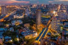 Puesta del sol de Bangkok Imagenes de archivo