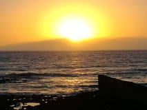 Puesta del sol de Beautivul Imágenes de archivo libres de regalías
