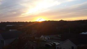 Puesta del sol de Beautoful Fotografía de archivo