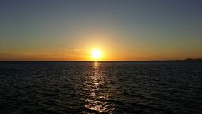 Puesta del sol de Beautyful Fotografía de archivo