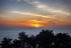 Puesta del sol de Big Sur Imagen de archivo