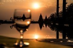 Puesta del sol 2 de Birmania Fotografía de archivo