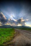 Puesta del sol de Blisfull Imagen de archivo libre de regalías